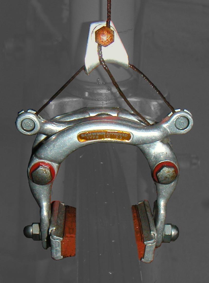 Колодочный тормоз велосипеда